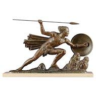 Art Deco Sculpture The Warrior by Bouraine