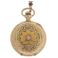 14K Pocket Watch and Chain with Tassle by Elgin