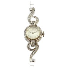 Swiss Ladies Diamond Wrist Watch Marked Anne