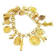 Sixteen Charm Bracelet in 14K-22K Gold