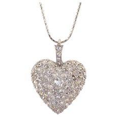 5.0 CTW Diamond Heart Pendant