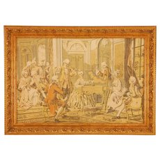French Framed Victorian Tapestry