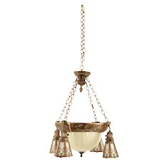Dome and Shower Style Slag Chandelier