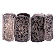 Art Deco Sterling Silver Link Bracelet