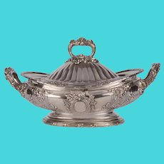 Sterling Silver Oval Covered Serving Dish