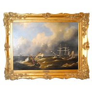 Maritime Oil on Canvas by Govert van Emmerik