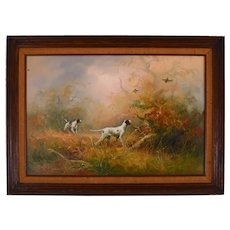 Oil on Canvas Untitled Hunting Scene by Eugene Kingman