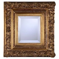 Gold Tone Carved Frame Wall Mirror