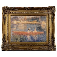 Impressionist Style Painting of Women Rowing Boat