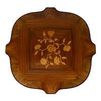Spanish Floral Inlaid Side Table