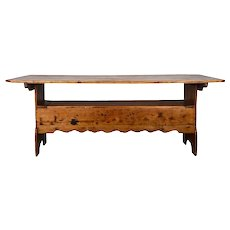 Rustic Farm Table Converts to Bench