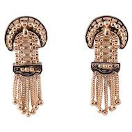 Victorian Enamel Buckle Style Earrings