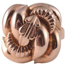 14K Rose Gold Floral Ring