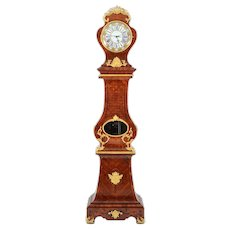 French Louis XV Tall Case Clock Signed Darville Paris