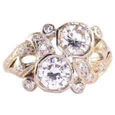 Art Deco 1.25 CTW Diamond Ring