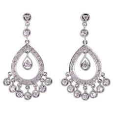 1.60 CTW Diamond Dangle Earrings