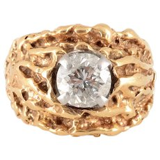 1.33 Carat Diamond Nugget Ring Size 6