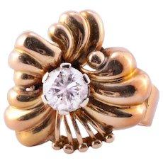 1.25 Carat Yellow Gold Diamond Ring