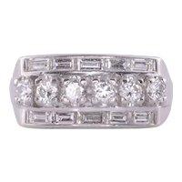 Art Deco VS Diamond Platinum Ring