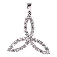 Trefoil Diamond Pendant