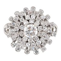 Vintage 2.11 CTW Diamond Dome Ring Size 6