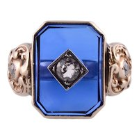 Victorian Synthetic Sapphire Ring