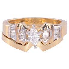 1.0 CTW Marquise Diamond Bridal Set