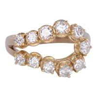 Free Form Yellow Gold Diamond Ring