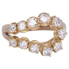 Free Form Yellow Gold Diamond Ring