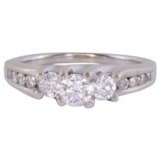.75 CTW Diamond White Gold Engagement Ring