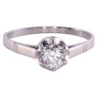 VVS1 Diamond Solitaire Platinum Engagement Ring