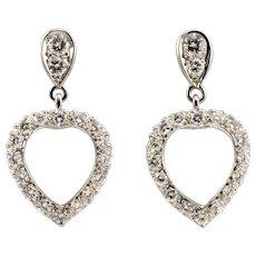 Heart Shaped Diamond Earrings