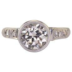 1.25 Carat VS1 Center Diamond Platinum Ring