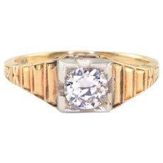 0.55 Carat Transitional Cut Diamond Ring