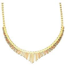 14 Karat Tri Color Gold Necklace