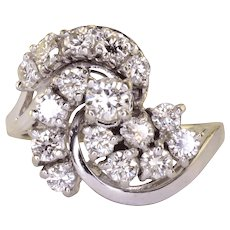 1.75 CTW VVS1-VS1 Diamond Cocktail Ring