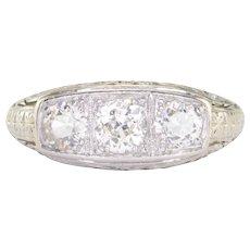1.05 CTW VVS Diamond Platinum Ring