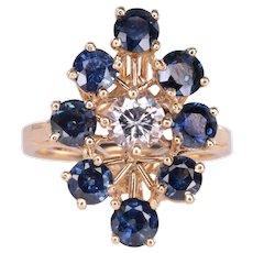 2.50 CTW Sapphire and Diamond Ring