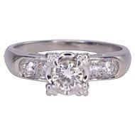 .40 Carat VS2 Center Diamond 18K White Gold Ring