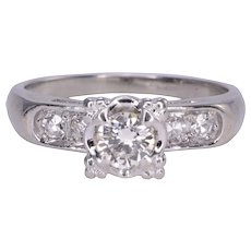.40 Carat VS2 Center Diamond 18K White Gold Ring
