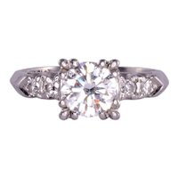 .95 Carat VVS2 Center Diamond Platinum Ring