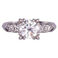 .95 Carat VVS2 Center Diamond Platinum Ring