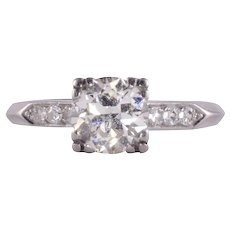 1.20 Carat VS2 Center Diamond Platinum Engagement Ring