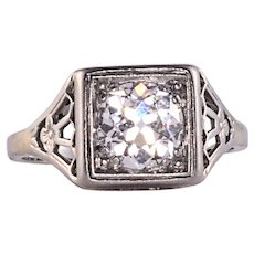 Edwardian 1.25 Carat Diamond Ring