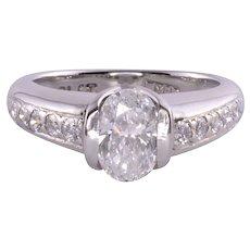 .98 Carat Oval Center Diamond Engagement Ring