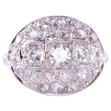 Art Deco Domed Diamond Ring