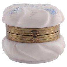 Wavecrest Milk Glass Jewelry Box