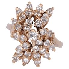 Cluster Diamond Cocktail Ring