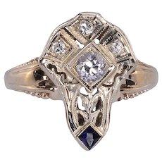 Diamond White Gold Filigree Ring