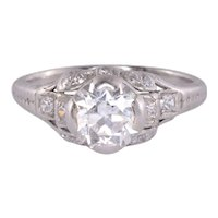 Edwardian 1.30 Carat Diamond Engagement Ring